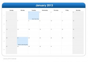 calendar-january-2013 | ItsMyideas : Great minds discuss ideas