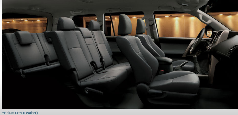 2013-Prado-Car-model-interior-gray-color-leather-seats picture