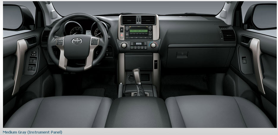 2013-Toyota-Land-Cruiser-Prado-interior-gray-color-leather-seats in USA