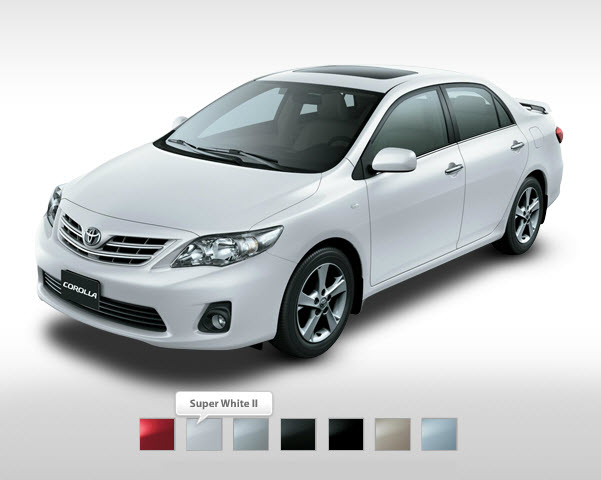 2013-Toyota-corolla-XLI-GLI-Mid range White color in Dubai Pakistan India USA