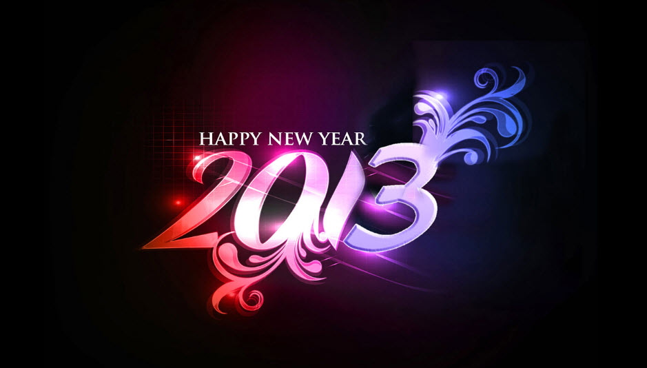 2013-new year background in adobephotoshop