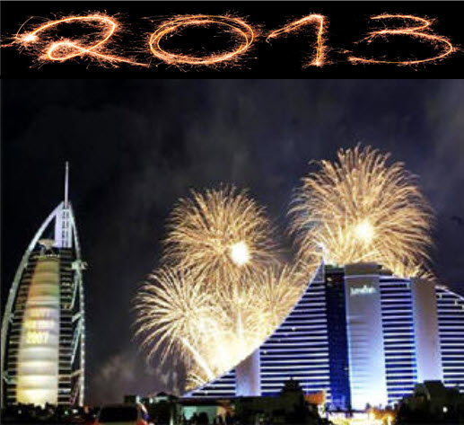 2013 new year night picture in dubai