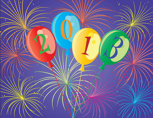 2013-new year wallpaper-with-balloon