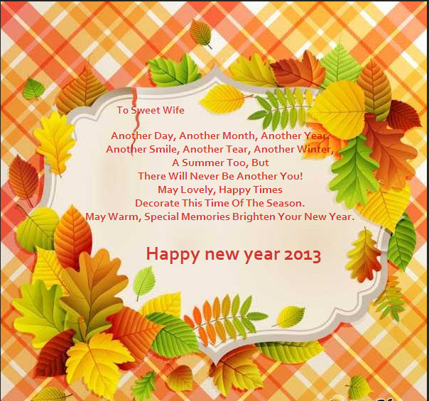 Amazing ecards for wife Happy new year 2013   ItsMyideas ...