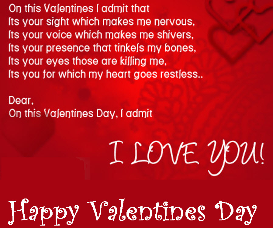 Funny Love Quotes For Valentines Day : Happy-valentine-day-2013 romantic picture with Quotes I LOVE YOU ...