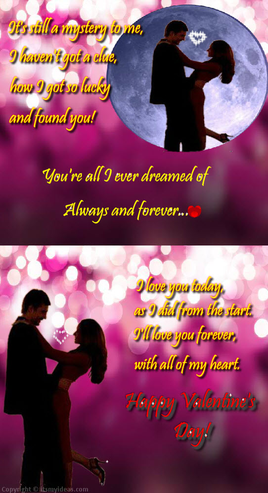 Valentine Day 2013 Romantic Couple Picture With Love Quotes | ItsMyideas :  Great Minds Discuss Ideas