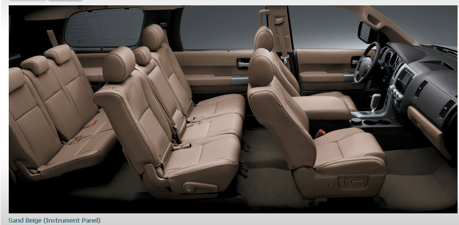 toyota sequoia 2013 car 4 wheel interior sand beige luxury leather instrument panel itsmyideas. Black Bedroom Furniture Sets. Home Design Ideas