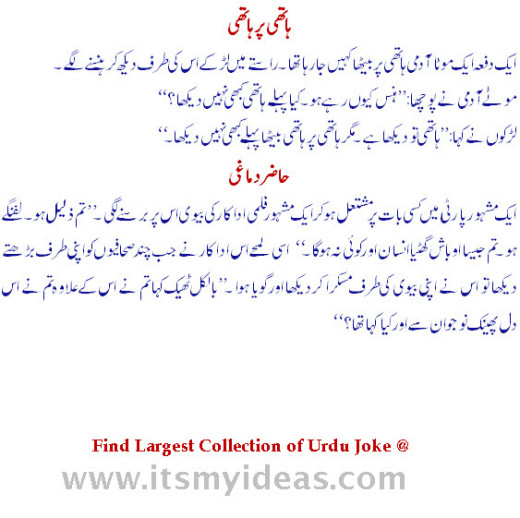 urdu-joke at wife and husband