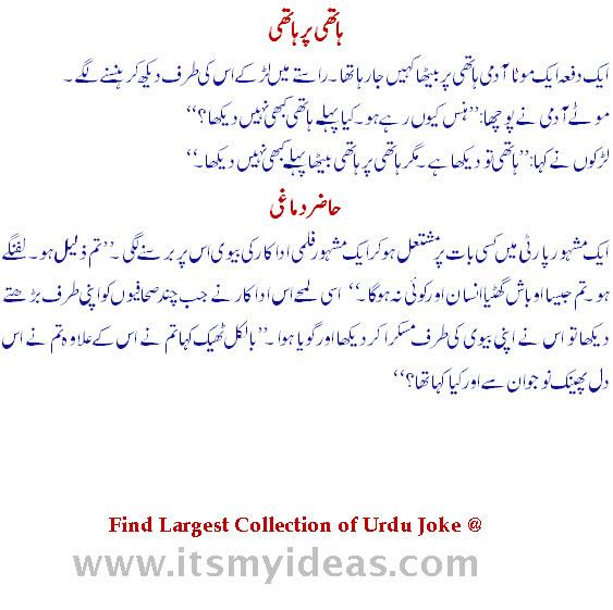 Urdu-joke At Wife And Husband