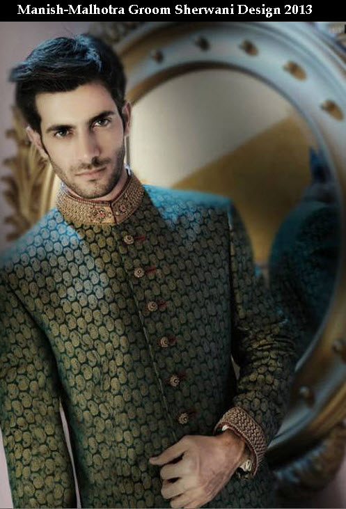 Beautiful Greem color wedding Groom sherwani 2013