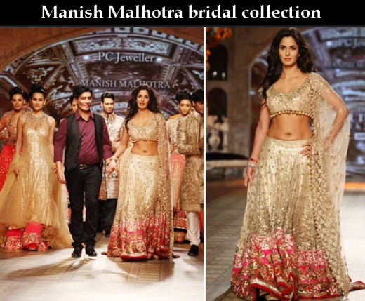 Manish-Malhotra Bollywood Actress Bridal Lehenga Collection 2013