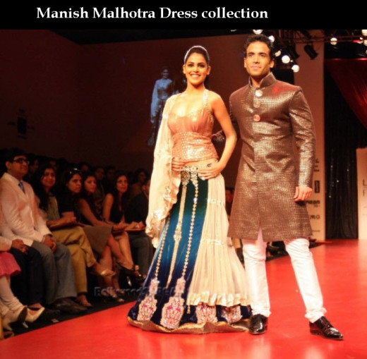 beautiful manish malhotra brida red lehenga collection 2013