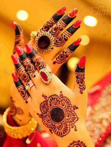 latest indian mehndi styles 2013-2014