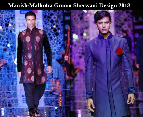 new Manish-malhotra sherwani design 2013 with price