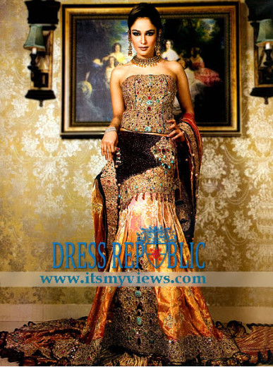 world most beautiful bridal dress 2013