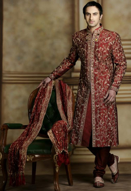 world-most-costly-groom sherwani design 2013
