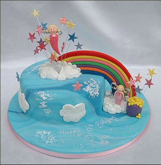 Birthday Cake Rainbow Design : Rainbow-color-birthday-cake-picture ItsMyideas : Great ...