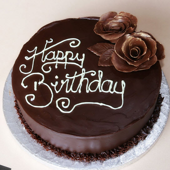 Stylish chocolate Cake for birthday - Shazia rana_may u live long aho aho......