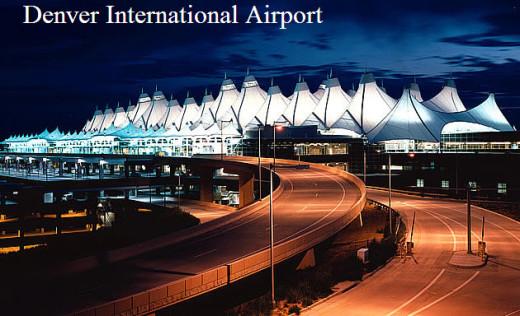 Denver International Airport at night-view