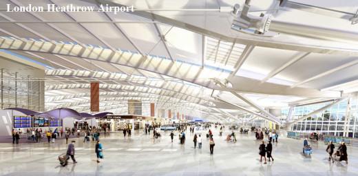 London-Heathrow Airport lounge
