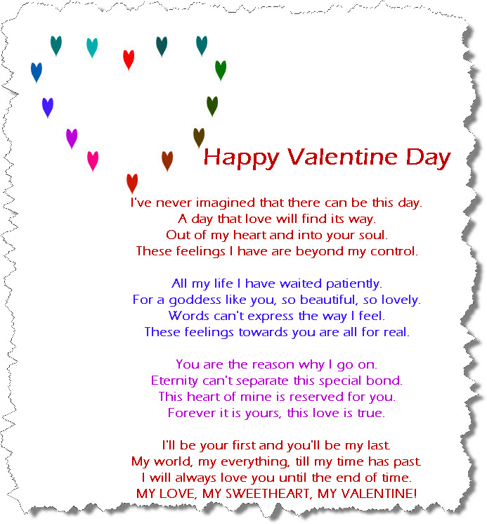Valentine Day 2013 Romantic Poem Picture Itsmyideas Great Minds