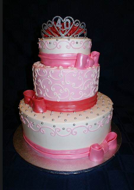 Beautiful Birthday Cake For Baby Girl In Pink Color